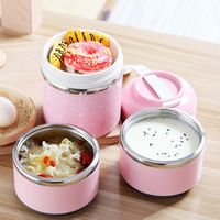 Thermal Lunch Box Leak Proof Stainless Steel Bento Box Kids Portable Picnic School Food Container Cute Candy Color %