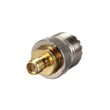 1PC Alloy Steel UHF SO239 SO-239 Jack Female To SMA Female RF Straight Adapter Connector