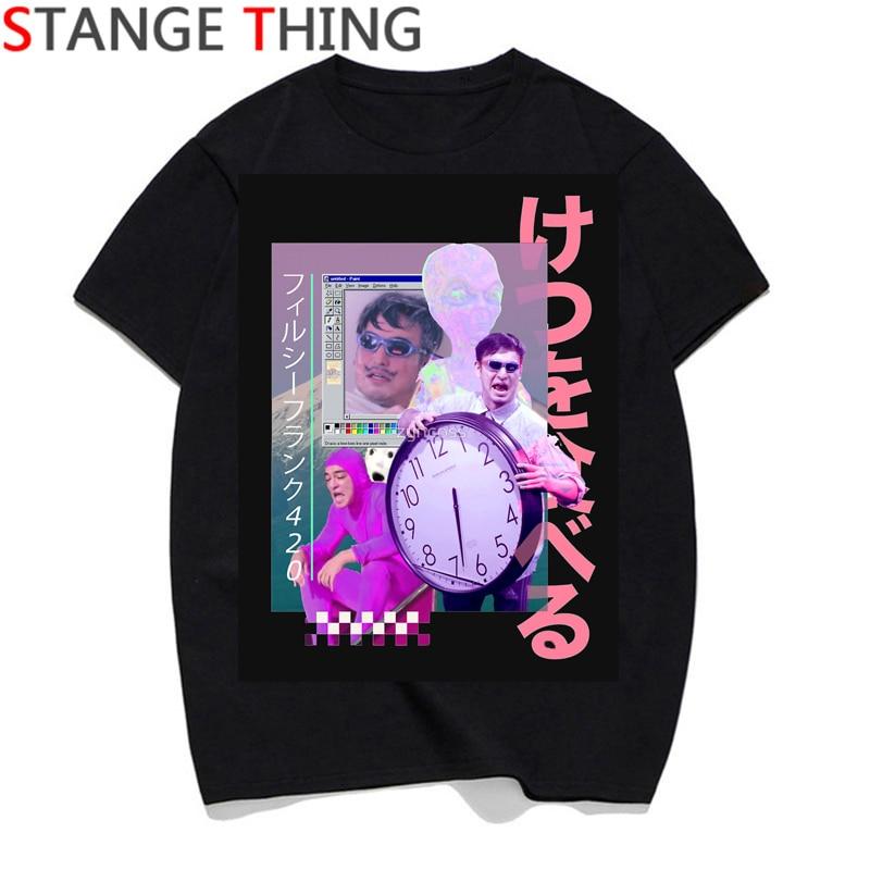 Vaporwave Imundo Frank T Camisa Dos Homens/mulheres Menina Triste Estética Pulp Fiction Tshirt Hiphop T-shirt Casal Unisex Top Tee masculino/feminino