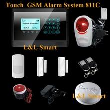 Новый Умный Умный Дом Alarme Сенсорной Клавиатурой Охранной GSM SMS Охранной Сигнализации