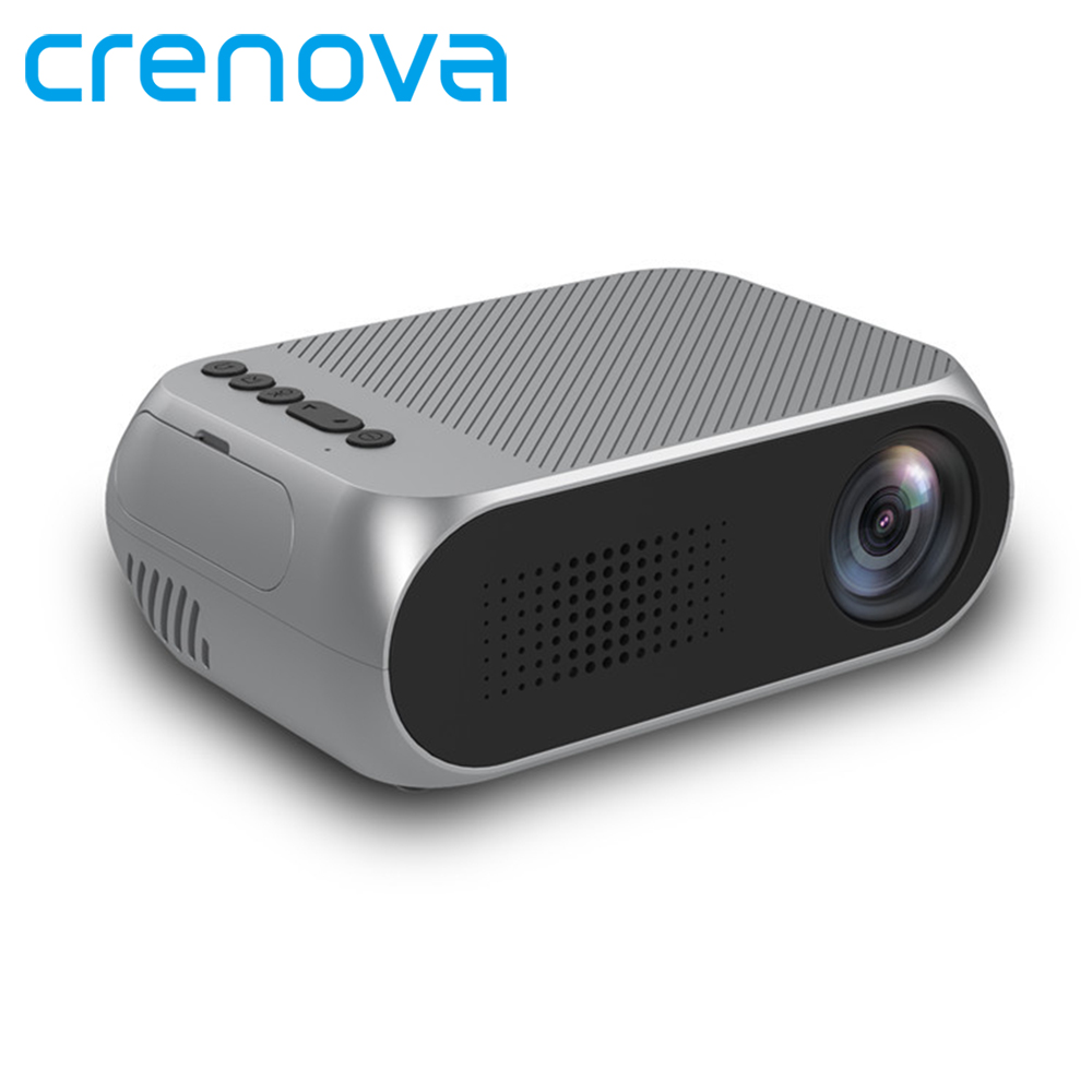 CRENOVA LED Projector For Home Theatre Movie Beamer For 1080p Full HD Proyector With USB HDMI VGA AV Video Projector
