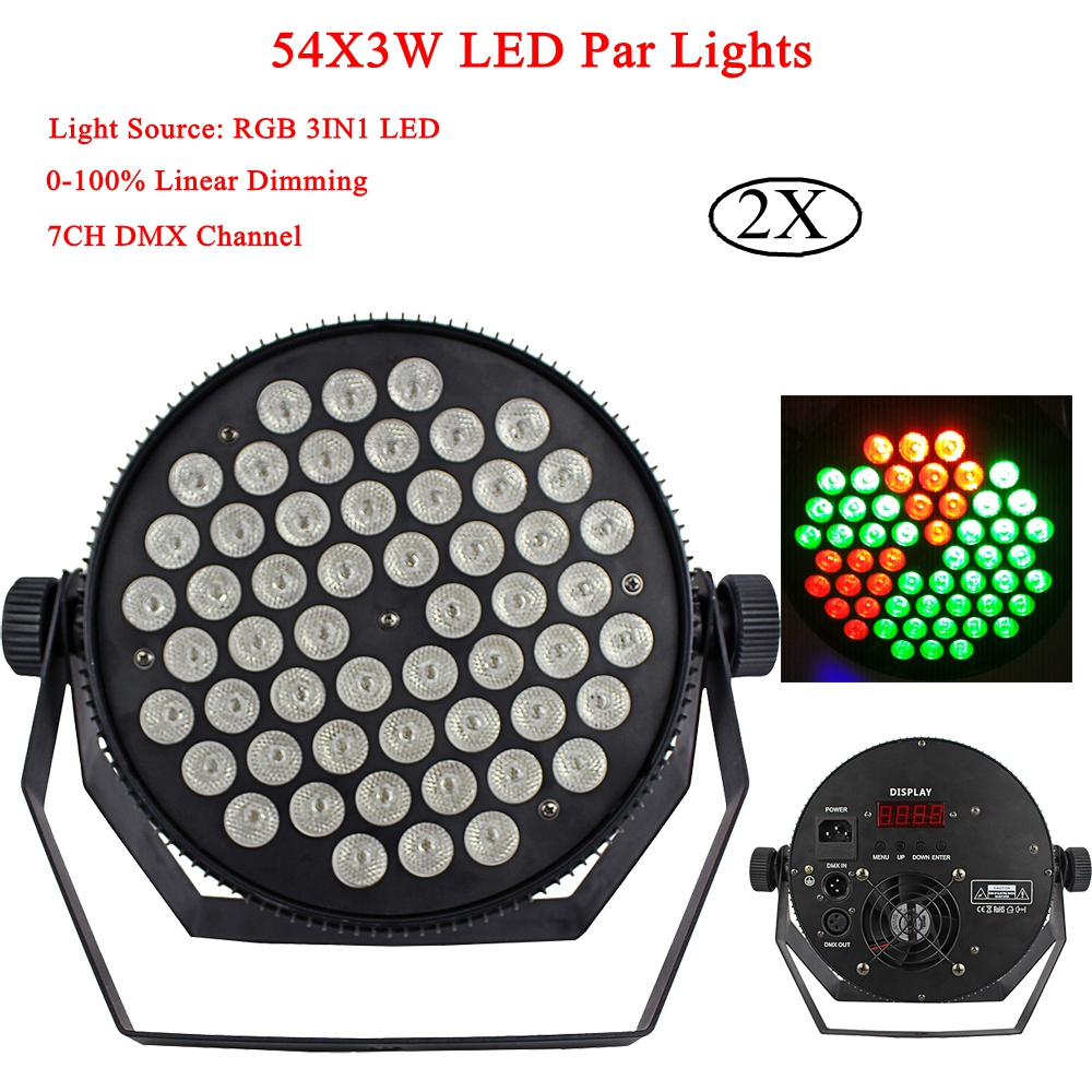 High quality 54X3W Stage Light LED RGB 3IN1 Par Light DMX512 Control Professional LED Bar Disco DJ Party Stage Lights Equipment 54x3w led rgbw monochromatic par light dmx512 professional dj bar party show stage light led stage machine