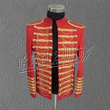 New Veste homme marque Nightclubs font b Men s b font Star models Stage Costumes Michael