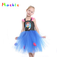 Princess Girls Anna Tutu Dress Hot Cartoon Girl Summer Dress Children Dance Clothing Cosplay Baby Kids Party Dresses Carnival posh dream mickey cartoon kids girl dress for cosplay pink and hot pink dot minnie girl tutu dresses flower girl cosplay dress