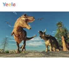Yeele Vinyl Dinosaurs Children Boy Birthday Party Photography Background Animals Baby Photographic Backdrop Photo Studio