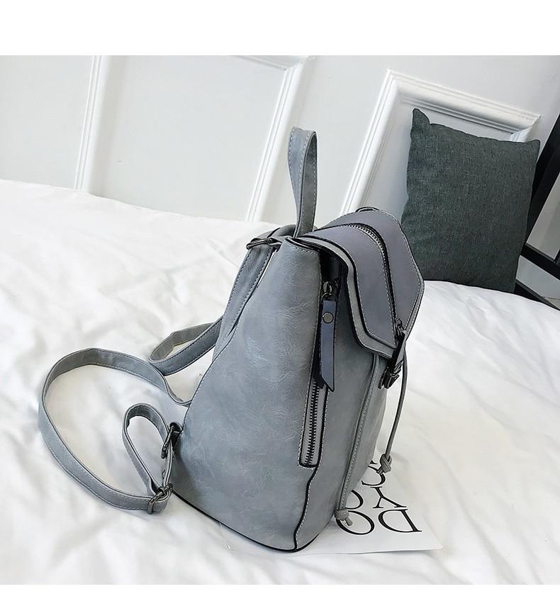 HTB1 mvUbUCF3KVjSZJnq6znHFXan Vintage Matte Leather Women Backpacks High Quality Multifunctional Shoulder Bag Female Girls Backpack Retro Schoolbag XA533H