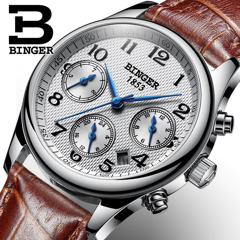 Швейцария BINGER Для женщин часы Элитный бренд кварцевые часы Для женщин Водонепроницаемый Relogio Feminino сапфир часы Наручные часы B-603W6