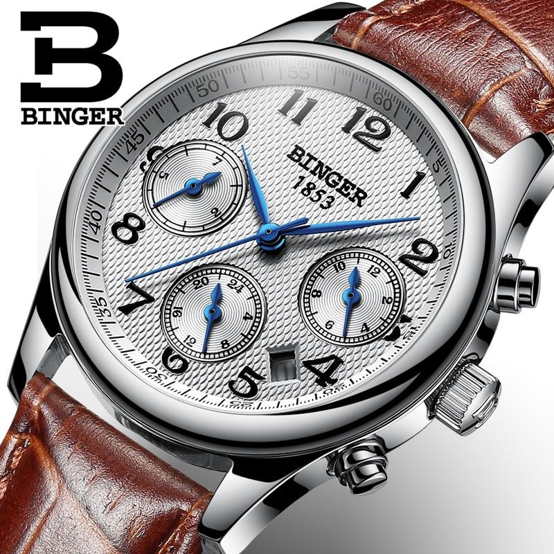 스위스 binger 여성 시계 럭셔리 브랜드 쿼츠 시계 여성 방수 relogio feminino 사파이어 시계 손목 시계 B 603W6-에서여성용 시계부터 시계 의  그룹 1