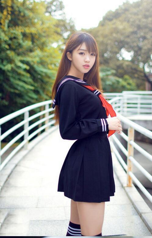 DHL 50 Pieces Summer Sailor Suit Student Uniform Classic Service School Uniform Set Pleated Skirt Japanese Uniforms Preppy Style