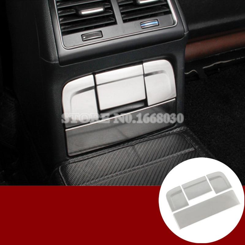 Interior Rear Cigarette Ashtray Frame Cover Trim 4pcs For