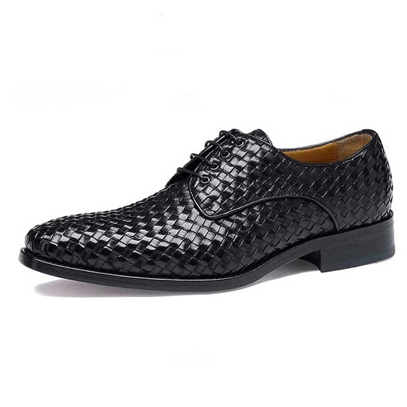 Casamento Black Genuíno Goodyear Tecer Sapatos Artesanal Mens Couro De brown Personalizado Homens Grimentin Dos Formais zSq0Ozw