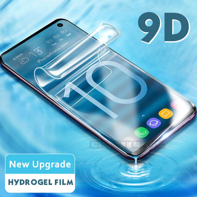 9D Soft Tempered Glass For Samsung Galaxy S8 S9 Plus Note 8 9 Hydrogel Film For Samsung S10E S10 Full Coverage Screen Protector