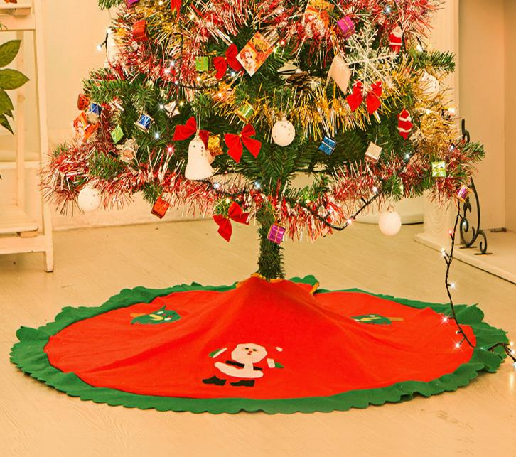 santa frosty friends christmas tree skirts vintage non woven apron 354 90cm festive party decorations supplies in tree skirts from home garden on - Vintage Christmas Tree Skirt