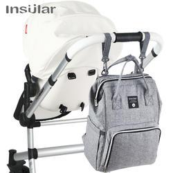 Insular бренд подгузник рюкзак сумка Мумия большая сумка для прогулок сумка Мама ребенок многофункциональные влагостойкие, уличные, для