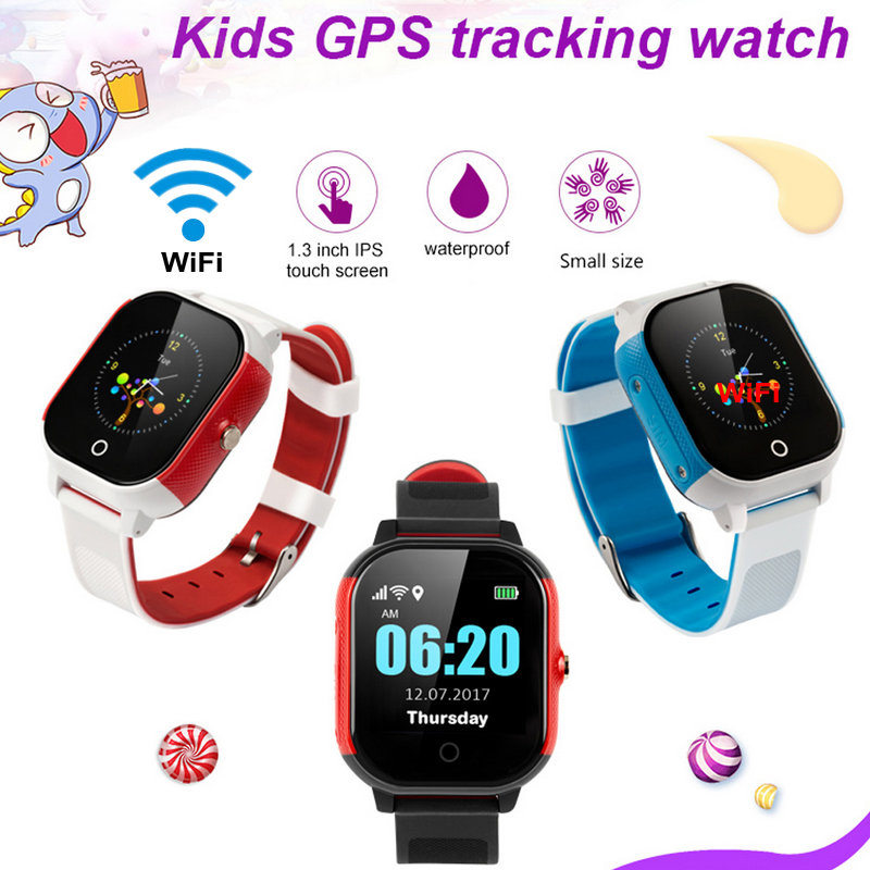 Image 2 - FA23 Smart Baby Watch IP67 Waterproof Children SIM Card Touch Screen GPS WIFI SOS Tracker Kids Alarm Clock Anti Lost Smartwatch-in Smart Watches from Consumer Electronics