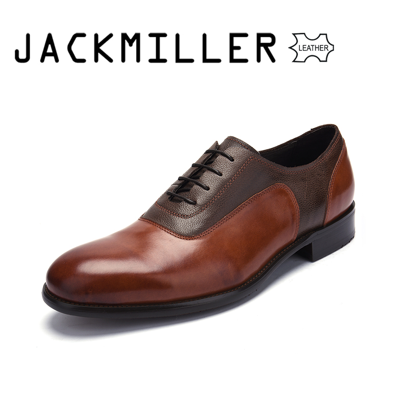 Jackmiller Luxury Brand Men Dress Shoes Genuine Leather Formal Business Men Shoes Wedding Party Large Size Dress Shoe for Mens european style real ostrich grain leather qshoes shoes mens brand design business dress luxury men fashion top shoe ym723 63