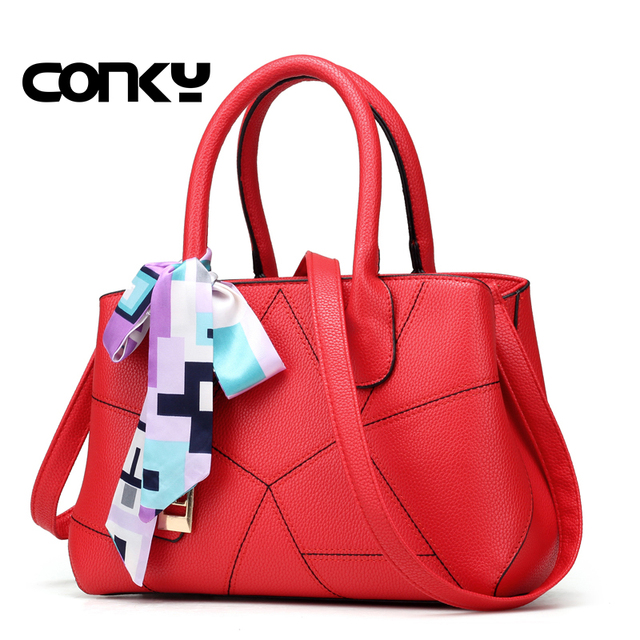 Brand New Luxury Handbags Women Bags Designer Handbag With Scarf Lock Shoulder Messenger 2017 Fashion