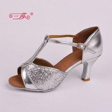 Sasha direct selling professional High Quality Salsa Tango Sequins Ballroom Latin Dance Shoes women 312