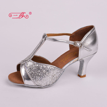 Sasha direct selling professional High Quality Salsa Tango Sequins Ballroom Latin Dance Shoes women 312