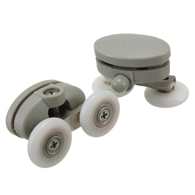 hhtl 4x 23mm schwere twin topboden duschtr rder rollen lufer bad grau - Duschtur Rollen