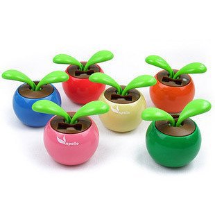 Solar Powered Swing Solar Flower,Magic Cute Flip Flap , Plant Swing Solar Toy Free Shipping