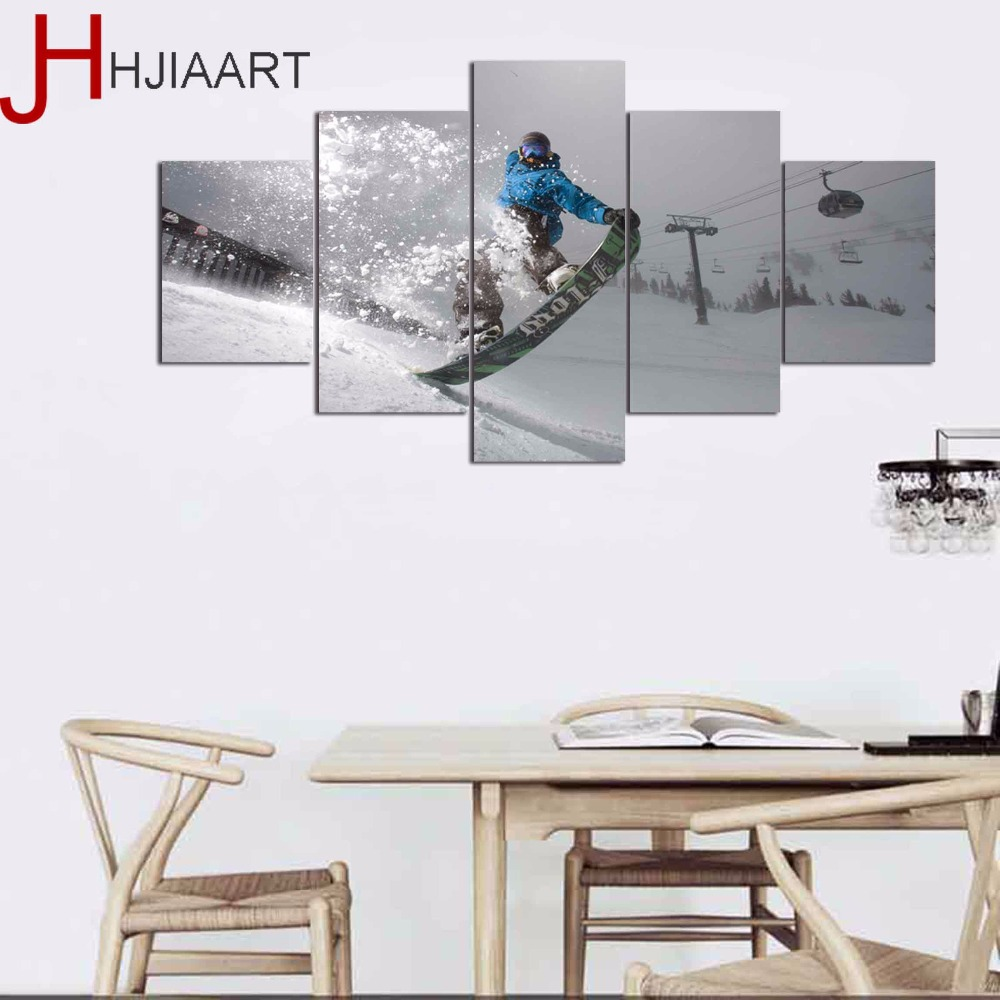 HD Printed Sports Surfing Painting On Canvas Room Poster Gaming Picture Sports Canvas Framed for Home Wall Art Decor 1