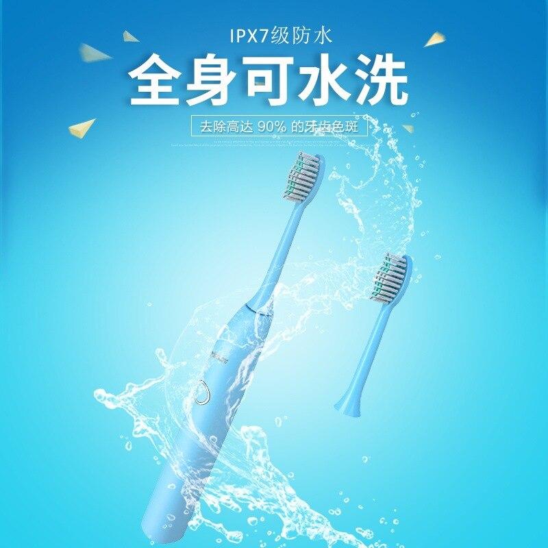 Электрическая зубная щетка звуковая волна перезаряжаемая высокое качество смарт чип зубная щетка сменная отбеливающая здоровая лучший по... - 4