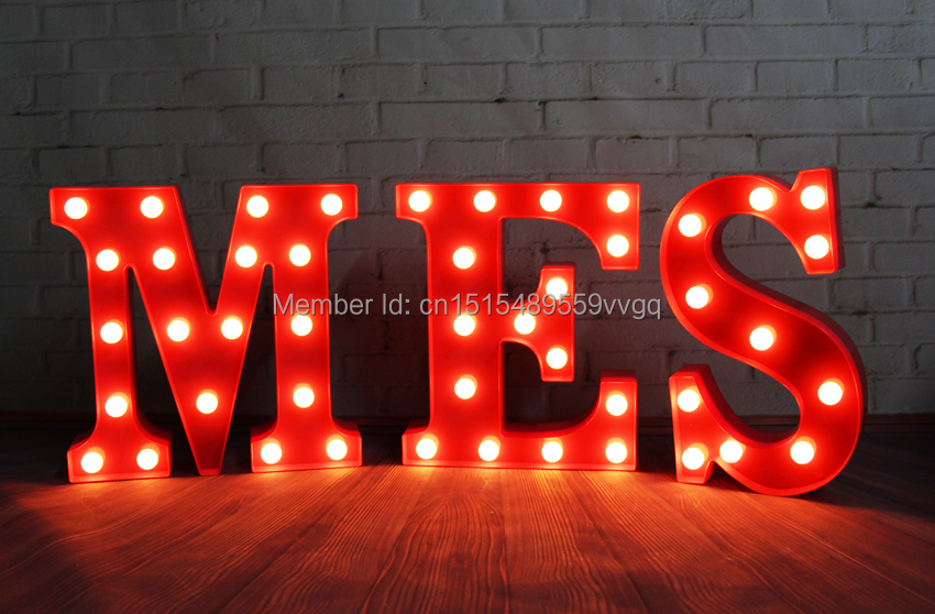 Marquee Letters Verlichting : Letters led marquee sign light up vintage alphabet plastic neon