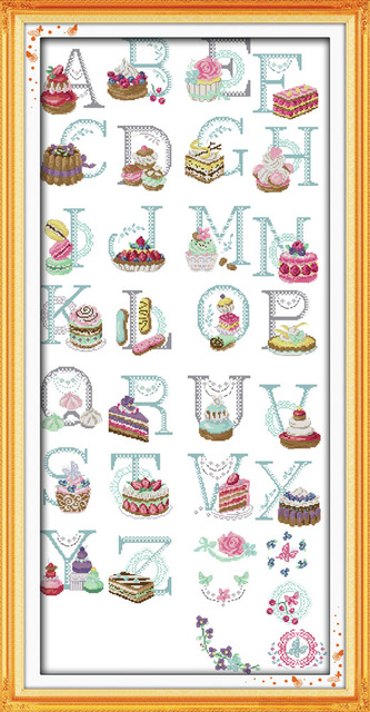 Aliexpress.Com : Buy Huge Size Needlework Cake Letters Pattern