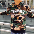 THRASHER Oficial 1:1 Homme Camo Camuflaje de Impresión de Alta Calidad Mens Hoodies Calle Kanye Moda Hip Hop Hombres Hoodies TC234