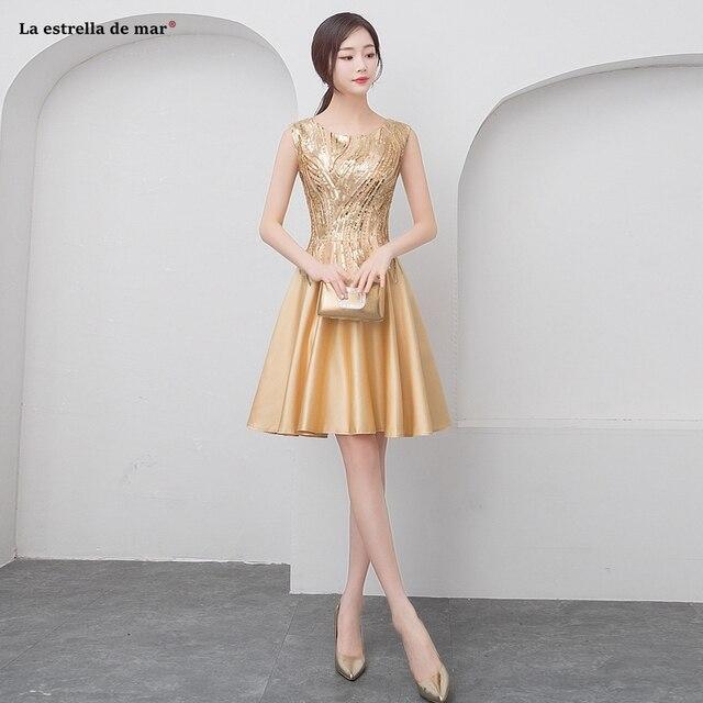 Short Gold Bridesmaid Dresses Best Dresses 2019