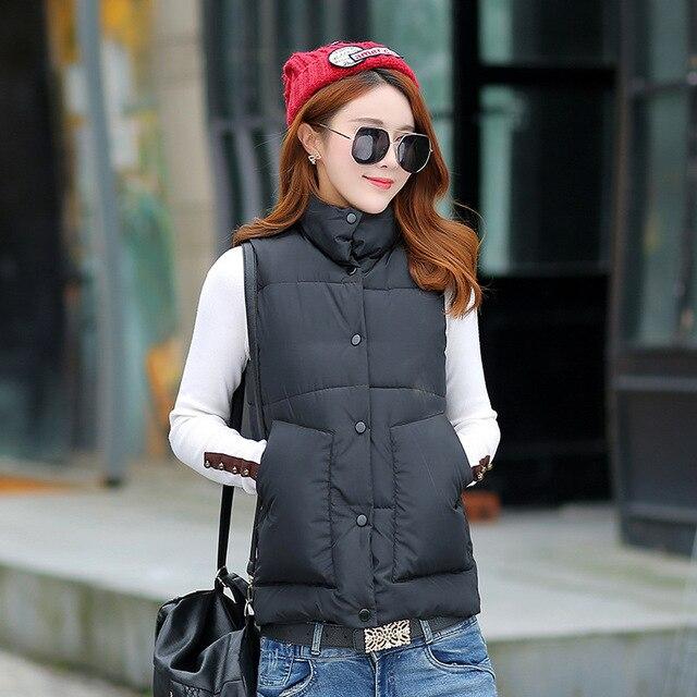 Mulheres para baixo do colete 2017 outono e inverno pato branco para baixo macia e quente colete plus size 3XL feminino marca outwear colete casaco
