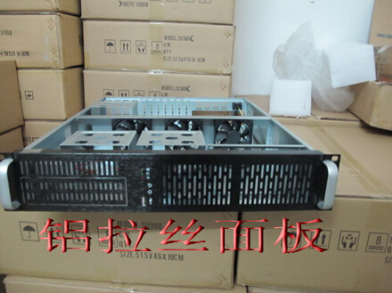 Standard 2U case 2U server chassis main board Large power supply 6 hard disk 1 CD-ROM position new 2u industrial computer case 2u server computer case 6 hard drive 2 optical drive 550 large panel high
