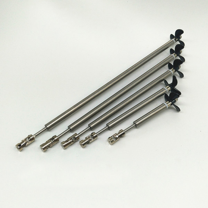 1 unid RC partes eje kit 3mm Acero Inoxidable Eje eje del tubo + 3-cuchillas hélices + junta universal kit DIY Accesorios