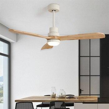 Americano Retrò Luce Ventilatore A Soffitto Nordic Moderna Sala Da Pranzo Camera Da Letto Soggiorno Caffetteria In Legno Massello Lampada Ventilatore