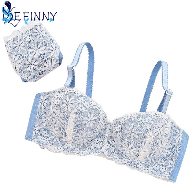2018 Cute Girl Intimates   Sets   Convertible Straps Underwire Enhance Push up   Bra  +Lace   Briefs   Breathable Underwear Lolita B Cup