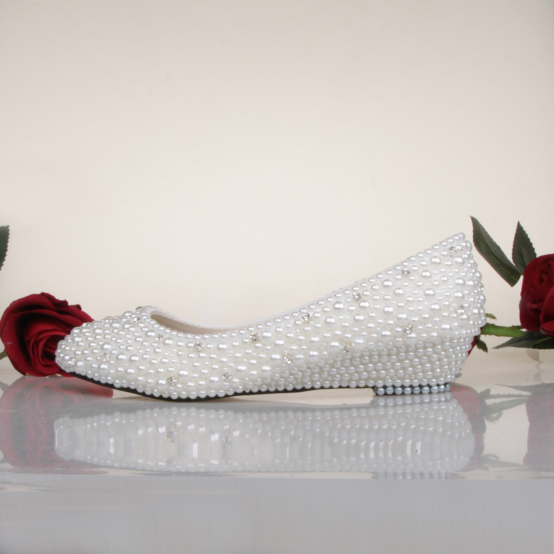 bridesmaid shoes white ivory pearl wedding shoes fashion