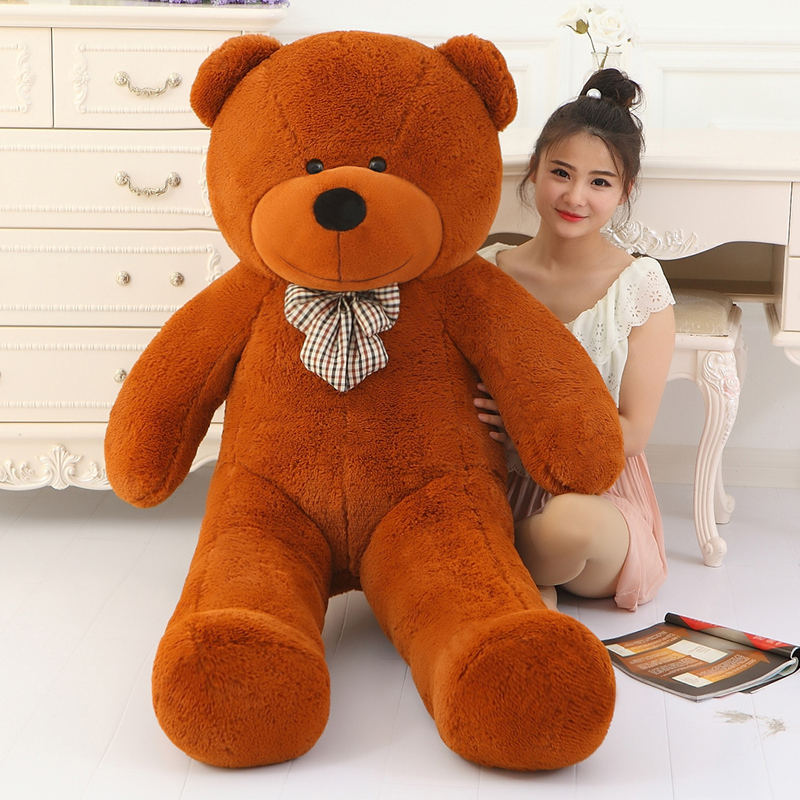 Фотография Big Sale giant teddy bear 160cm 180cm 200cm 220cm  life size large huge big plush stuffed toy dolls girl birthday valentine gift