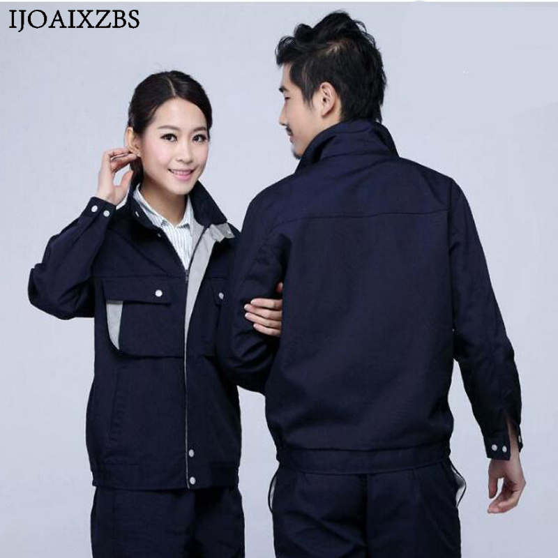 Work Overalls Men Women Protective Safety Coverall Repairman Set Strap Trousers Working  ...