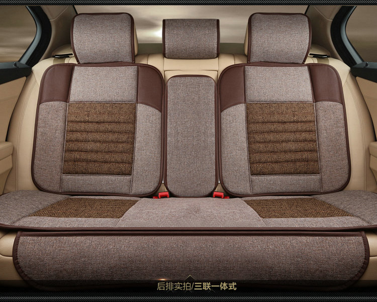 Automotive Linen Cushion Set Car Seat Covers Mat Pu Pad For ROVER