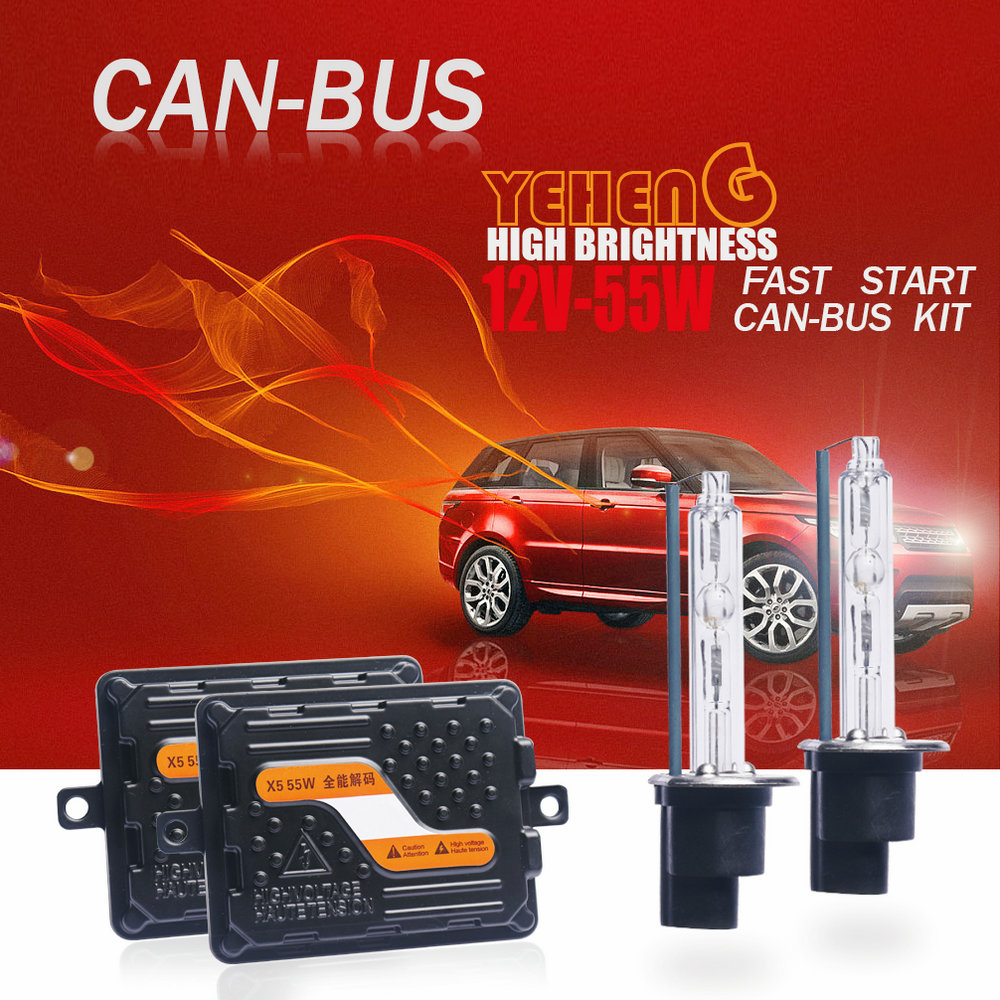 YEHENG Top quality 12V 55W Ultra CANBUS Fast bright Car HID headlight kit Xenon Ballast D2H
