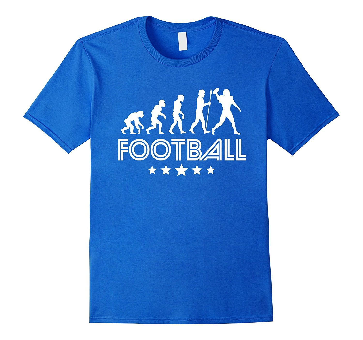 Footballer Evolution Retro Style Graphic T Shirt Cotton