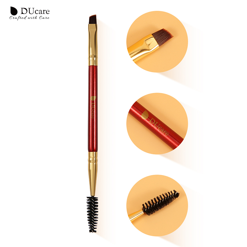 DUcare Eyebrow Brush Beauty Makeup Wood Handle Eyebrow Brush Eyebrow Comb Double Ended Brushes Brushes Make Up in Eye Shadow Applicator from Beauty Health