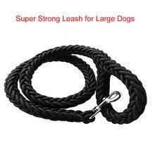 L/XL супер сильный грубый нейлоновый поводок для собак зелено-армейский брезентовый двухрядный Регулируемый ошейник для средних и больших собак 130 см