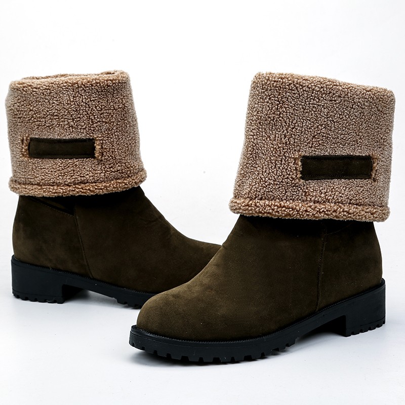 buy green Snow Boots shoes Warm slip on Boots