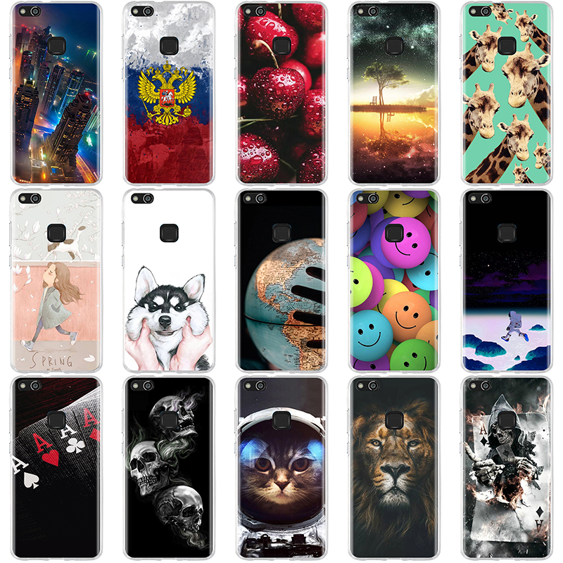 Case For Huawei P10 Lite Case Cover 3D Pattern Silicone For Huawei P10 Lite Case Soft TPU Cover For Huawei P10lite 5.2