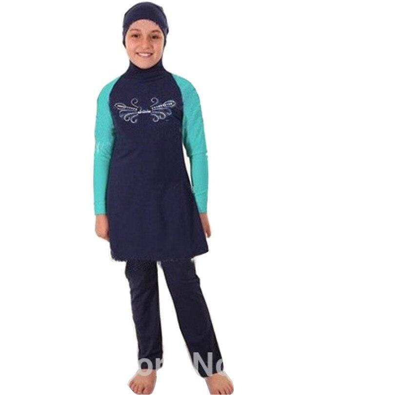 Muslimische Bademode Rational Nylon Qualität Muslimischen Schwimmen Islamischen Badeanzüge Für Kinder Mädchen Muslimischen Bademode Plus Größe Badeanzug Sommer Beachwear Fein Verarbeitet Sport & Unterhaltung
