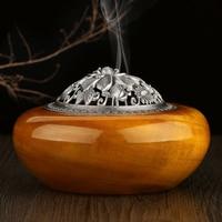 New mahogany nanmu wood incense incense gold Nan sandalwood incense burner incense tower tray box