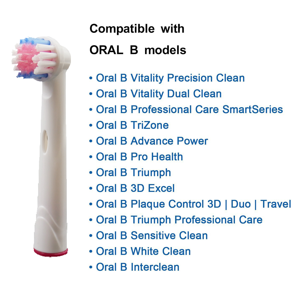 4pcs in One Pack Electric Toothbrush Soft Bristles Heads Replacement Oral  Health Care Generic Oral B 7ca0a2d6a2bf