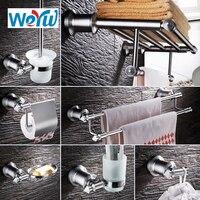 WEYUU Towel Racks ,Soap Dish,Toilet Brush Holder,Paper Holder Bathrooms Hardware Sets Bathroom accessories Stainless Steel